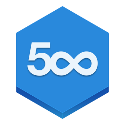 256x256px size png icon of 500px