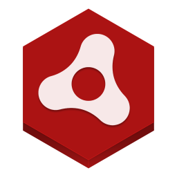256x256px size png icon of adobe air