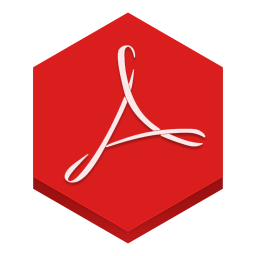 256x256px size png icon of adobe reader