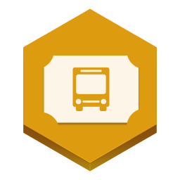 256x256px size png icon of bus ticket