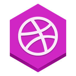 256x256px size png icon of dribble
