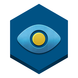 256x256px size png icon of eye in a sky