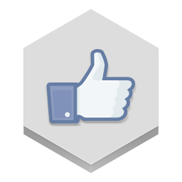 256x256px size png icon of facebook like