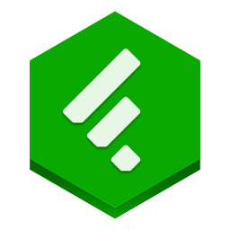 256x256px size png icon of feedly