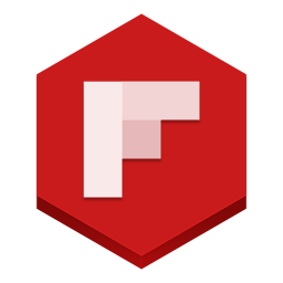 256x256px size png icon of flipboard