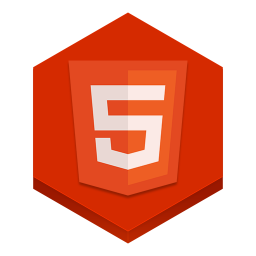 256x256px size png icon of html 5