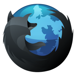 256x256px size png icon of Firefox Inverse