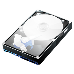 256x256px size png icon of HDD Clear Case