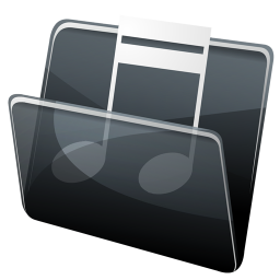 256x256px size png icon of Music Folder