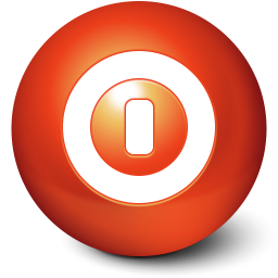 256x256px size png icon of Cute Ball Shutdown