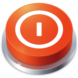 256x256px size png icon of Perspective Button Shutdown
