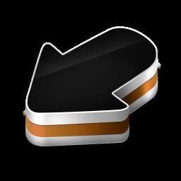 256x256px size png icon of Arrow Orange
