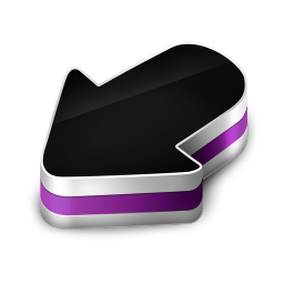 256x256px size png icon of Arrow Purple