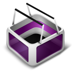 256x256px size png icon of Cart Purple