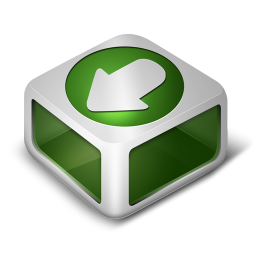 256x256px size png icon of Download Green