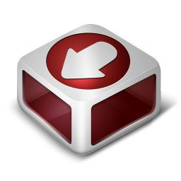 256x256px size png icon of Download Red