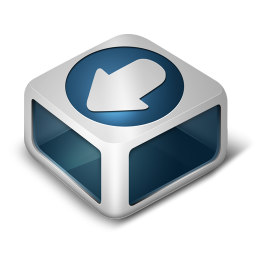 256x256px size png icon of Download