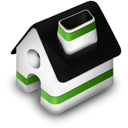 256x256px size png icon of Home Green