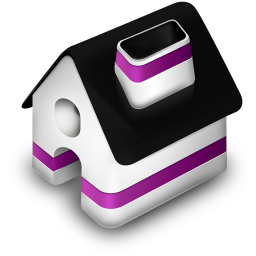 256x256px size png icon of Home Purple