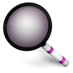 256x256px size png icon of Magnify Purple
