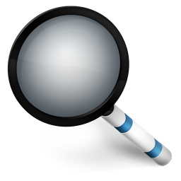 256x256px size png icon of Magnify