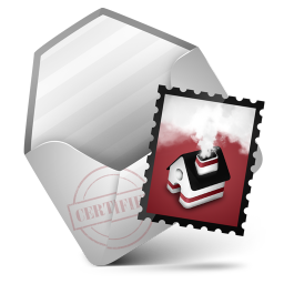 256x256px size png icon of Mail Red