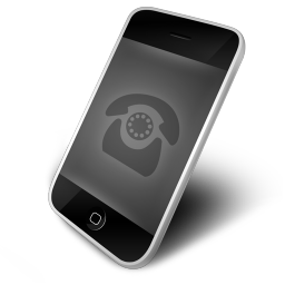 256x256px size png icon of Phone Black