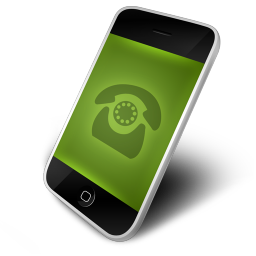 256x256px size png icon of Phone Green