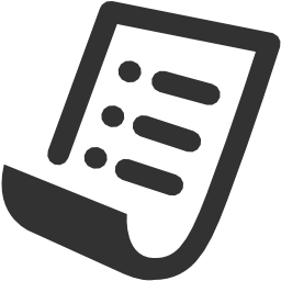 256x256px size png icon of Accounting Purchase order