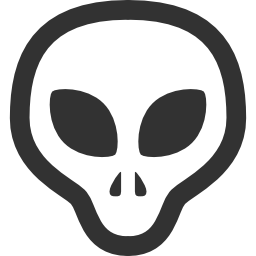 256x256px size png icon of Aliens Grey