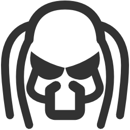 256x256px size png icon of Aliens Predator