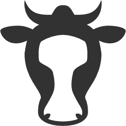 256x256px size png icon of Animals Cow