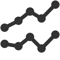 256x256px size png icon of Charts Line