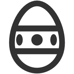 256x256px size png icon of Easter Easter egg