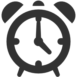256x256px size png icon of Ecommerce Alarm clock