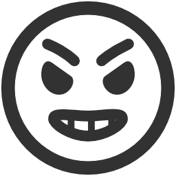 256x256px size png icon of Emoticons Angry