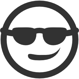 256x256px size png icon of Emoticons Cool