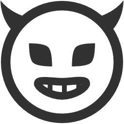 256x256px size png icon of Emoticons Evil