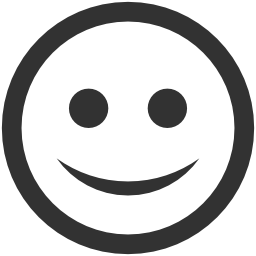 256x256px size png icon of Emoticons Happy