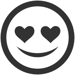 256x256px size png icon of Emoticons In love