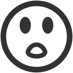 256x256px size png icon of Emoticons Surprised