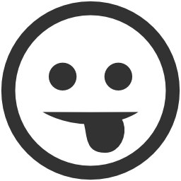 256x256px size png icon of Emoticons Tongue