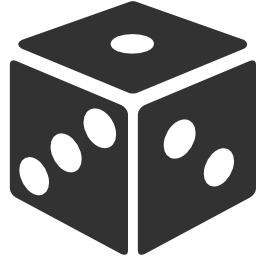 256x256px size png icon of Gamble Dice