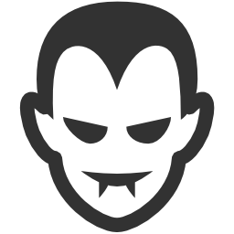 256x256px size png icon of Halloween Vampire