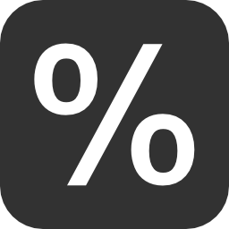 256x256px size png icon of Mathematic Percentage