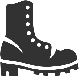 256x256px size png icon of Military Boots