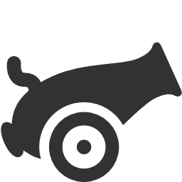 256x256px size png icon of Military Cannon