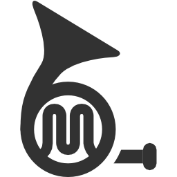 256x256px size png icon of Music French horn