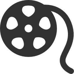 256x256px size png icon of Photo Video Film reel