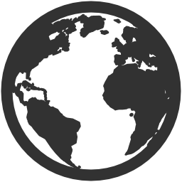 256x256px size png icon of Very Basic Globe